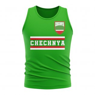 Chechnya Core Football Country Sleeveless Tee (Green)