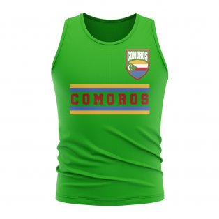 Comoros Core Football Country Sleeveless Tee (Green)