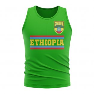 Ethiopia Core Football Country Sleeveless Tee (Green)