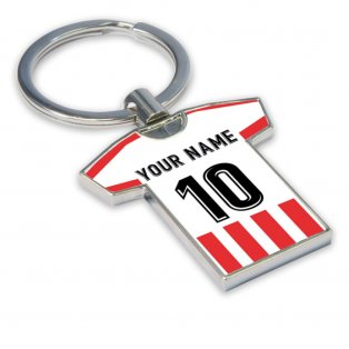 Personalised Athletic Bilbao Football Shirt Key Ring