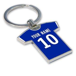 Personalised Bastia Football Shirt Key Ring