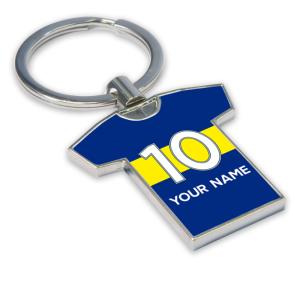 Personalised Boca Juniors Football Shirt Key Ring