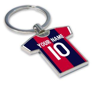 Personalised Bologna Football Shirt Key Ring