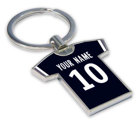 Personalised Bordeaux Football Shirt Key Ring