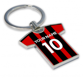 Personalised Bournemouth Football Shirt Key Ring