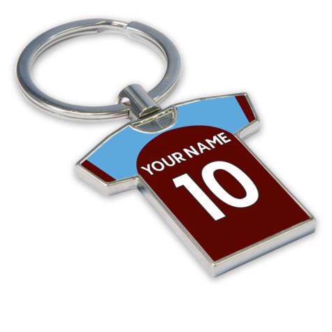 Personalised Burnley Football Shirt Key Ring