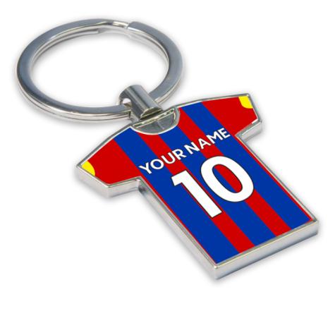 Personalised Crystal Palace Football Shirt Key Ring