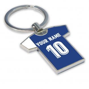 Personalised Deportivo Football Shirt Key Ring