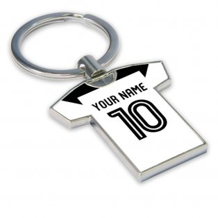 Personalised Derby County Football Shirt Key Ring