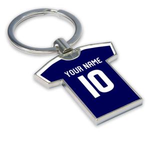 Personalised Dundee Football Shirt Key Ring