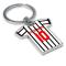 Personalised Dunfermline Football Shirt Key Ring