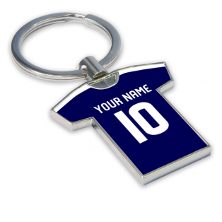 Personalised Falkirk Football Shirt Key Ring