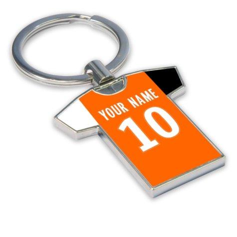 Personalised FC Lorient Football Shirt Key Ring