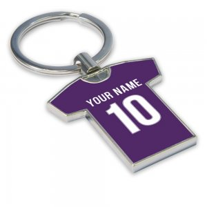 Personalised Fiorentina Football Shirt Key Ring