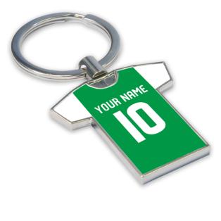 Personalised Hibernian Football Shirt Key Ring