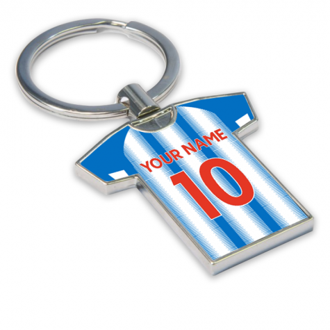 Personalised Huddersfield Town Football Shirt Key Ring
