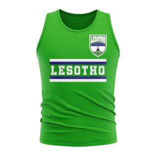 Lesotho Core Football Country Sleeveless Tee (Green)