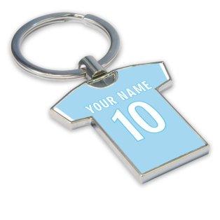 Personalised Lazio Football Shirt Key Ring