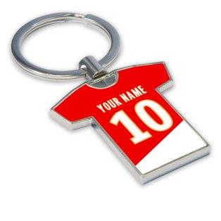 Personalised Monaco Football Shirt Key Ring