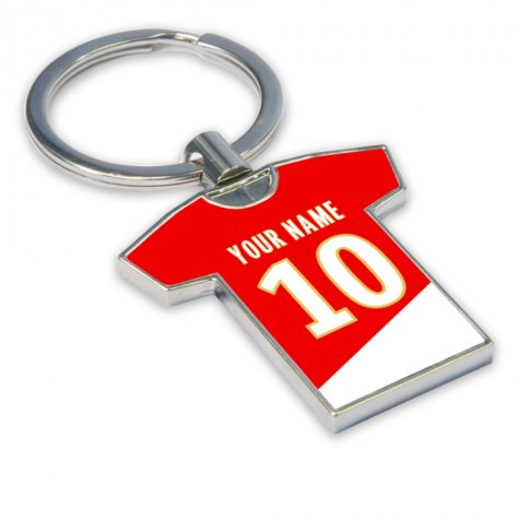 Personalised Monaco Football Shirt Key Ring