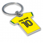 Personalised Norwich City Football Shirt Key Ring