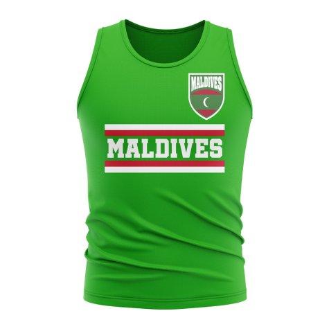 Maldives Core Football Country Sleeveless Tee (Green)