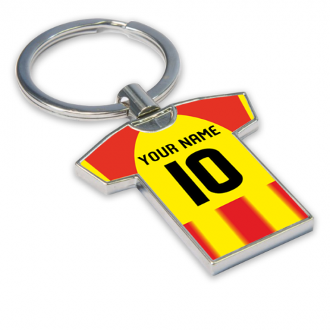 Personalised Partick Thistle Football Shirt Key Ring