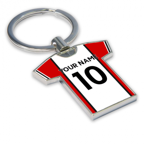 Personalised Southampton Football Shirt Key Ring