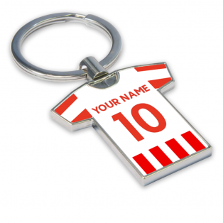 Personalised Stoke City Football Shirt Key Ring