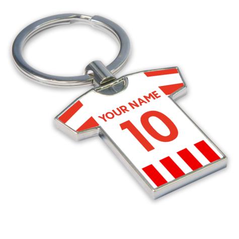Personalised Stoke City Football Shirt Key Ring