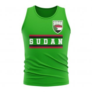 Sudan Core Football Country Sleeveless Tee (Green)
