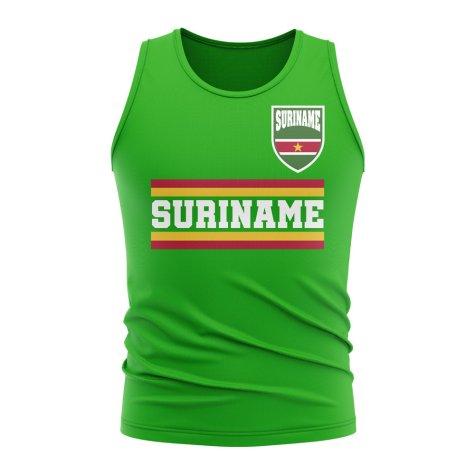 Suriname Core Football Country Sleeveless Tee (Green)