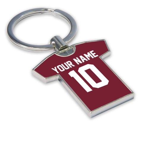 Personalised Torino Football Shirt Key Ring