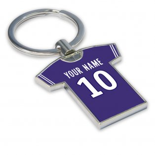 Personalised Toulouse Football Shirt Key Ring