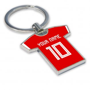 Personalised Wales Football Shirt Key Ring