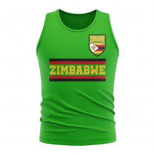 Zimbabwe Core Football Country Sleeveless Tee (Green)