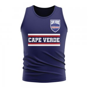 Cape Verde Core Football Country Sleeveless Tee (Navy)