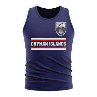 Cayman Islands Core Football Country Sleeveless Tee (Navy)