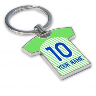 Personalised Wolfsburg Football Shirt Key Ring