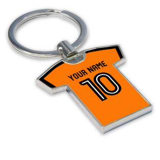 Personalised Wolves Football Shirt Key Ring