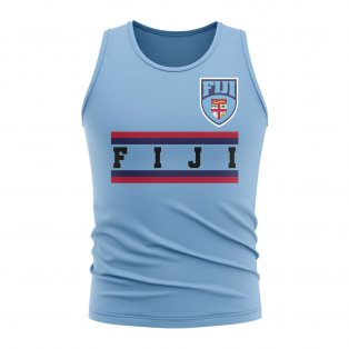 Fiji Core Football Country Sleeveless Tee (Sky)