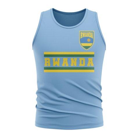 Rwanda Core Football Country Sleeveless Tee (Sky)