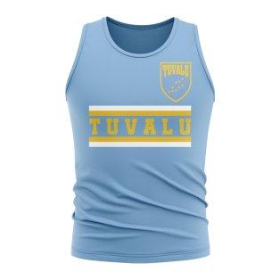 Tuvalu Core Football Country Sleeveless Tee (Sky)