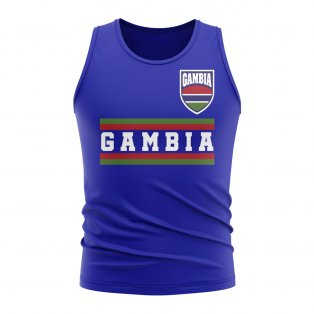 Gambia Core Football Country Sleeveless Tee (Royal)