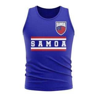 Samoa Core Football Country Sleeveless Tee (Royal)