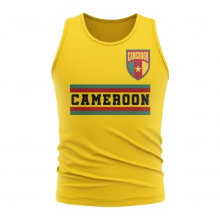 Cameroon Core Football Country Sleeveless Tee (Yellow)