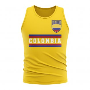 Colombia Core Football Country Sleeveless Tee (Yellow)