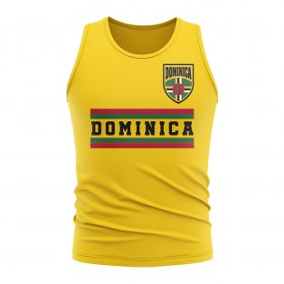 Dominica Core Football Country Sleeveless Tee (Yellow)