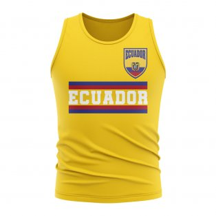 Ecuador Core Football Country Sleeveless Tee (Yellow)