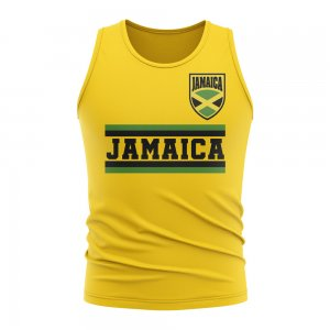 Jamaica Core Football Country Sleeveless Tee (Yellow)
